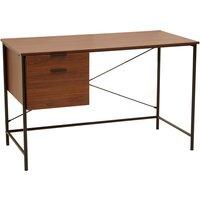 Product photograph showing Bradken Wooden 2 Drawers Computer Desk In Walnut