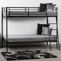 Product photograph showing Brandon Metal Single Bunk Bed In Black