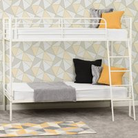 Product photograph showing Brandon Metal Single Bunk Bed In White