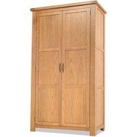 Brendan Wooden Double Door Wardrobe In Crafted Solid Oak