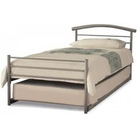 Brennington Meatl Single Bed With Guest Bed In Silver