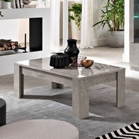 Product photograph showing Breta Coffee Table In Grey Marble Effect With High Gloss Lacquer