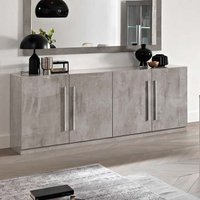 Product photograph showing Breta Sideboard Large In Grey Marble Effect High Gloss Lacquer