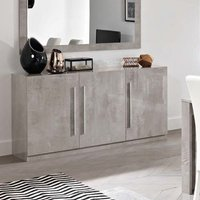 Product photograph showing Breta Sideboard In Grey Marble Effect With High Gloss Lacquer