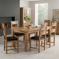 Brex Extending Large Natural Dining Table With 8 Chairs