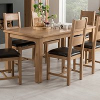 Brex Extending Large Wooden Dining Table In Natural