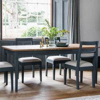 Bronte Extending Wooden Dining Table In Storm