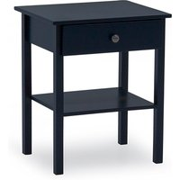 Product photograph showing Buntin Wooden Bedside Cabinet In Blue Painted Finish