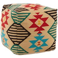 Product photograph showing Cafenos Fabric Upholstered Pouffe In Assorted Colours