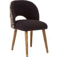 Product photograph showing Cafenos Moroccan Cotton Fabric Bedroom Chair In Dark Brown