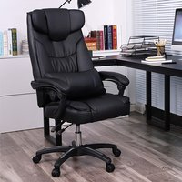Cajon Faux Leather Executive Home And Office Chair In Black