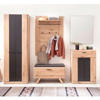 Product photograph showing Calais Wooden Hallway Furniture Set In Planked Oak