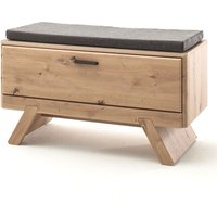 Product photograph showing Calais Wooden Shoe Storage Bench In Planked Oak
