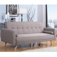 California Modern Fabric Sofa Bed Large In Grey