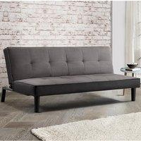 Calvin Modern Fabric Sofa Bed In Grey Velvet