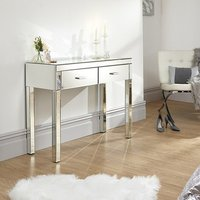 Cambridge Mirrored Rectangular Dressing Table With 2 Drawers