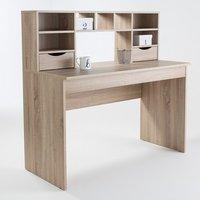 Camden Wooden Computer Desk In Light Oak With 2 Drawers