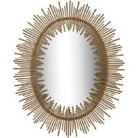 Camino Contemporary Wall Mirror Oval In Gold