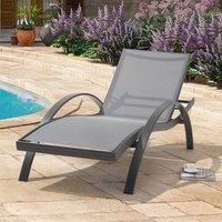 Campanula Sun Chaise Garden Lounger In Grey