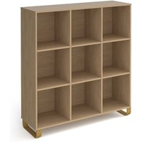 Canary High Wooden Shelving Unit In Kendal Oak And 9 Shelves