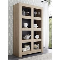 Product photograph showing Carney Contemporary Bookcase In Cadiz Oak