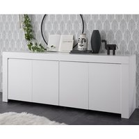 Carney Contemporary Sideboard Large In Matt White With 4 Doors