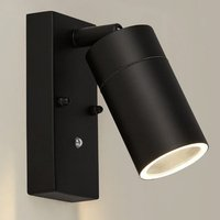 Product photograph showing Caroli Outdoor Wall Light With Dusk Till Dawn Sensor In Black