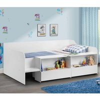 Product photograph showing Carolyn Low Sleeper Children Bed In White With 2 Drawers