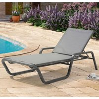 Cassie Sun Chaise Garden Lounger In Grey