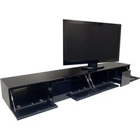 image-Castle LCD TV Stand In Black With Four Glass Door