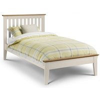 Cayuga Two Tone Single Size Bed In Stone White Lacquered