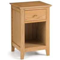 Cayuga Wooden One Drawer Bedside Table In Oak Finish
