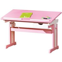 Product photograph showing Cecilia Childrens Computer Desk In Pink Wood