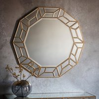 Product photograph showing Celeste Artistic Decagon Bedroom Mirror