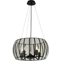 Ceres 5 Lights Bound Glass Pendant Ceiling Light