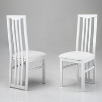 Product photograph showing Cexa Wooden Dining Chair In White