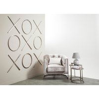 Product photograph showing Charlotte Contemporary Wall Art In Stainless Steel Finish