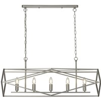 Chassis Wall Hung 5 Pendant Light In Satin Silver