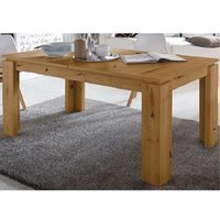 Product photograph showing Chelsea Wooden Extending Dining Table In Artisan Oak