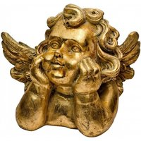 Product photograph showing Cherub Decorative Ornament In Gold