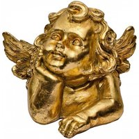 Product photograph showing Cherub Trendy Decorative Ornament In Gold