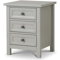 Cheshire Bedside Cabinet In Dove Grey Lacquer With 3 Drawers