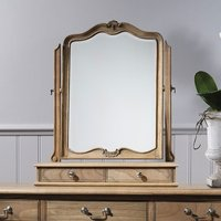 Chic Dressing Table Mirror In Weathered