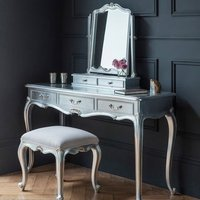 Product photograph showing Chic Wooden Dressing Table Only In Silver