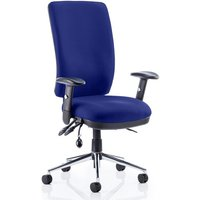Chiro High Back Office Chair In Stevia Blue With Arms