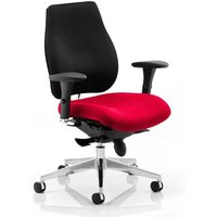 Chiro Plus Black Back Office Chair With Bergamot Cherry Seat