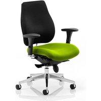 Chiro Plus Black Back Office Chair With Myrrh Green Seat