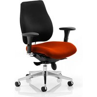 Chiro Plus Black Back Office Chair With Tabasco Red Seat