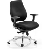 Chiro Plus Ergo Office Chair In Black With Arms