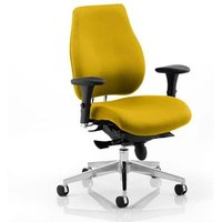 Chiro Plus Office Chair In Senna Yellow With Arms